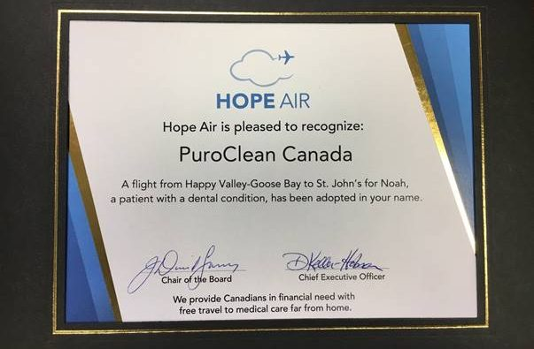 PuroClean Supports Hope Air